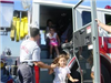 Kids explore fire truck