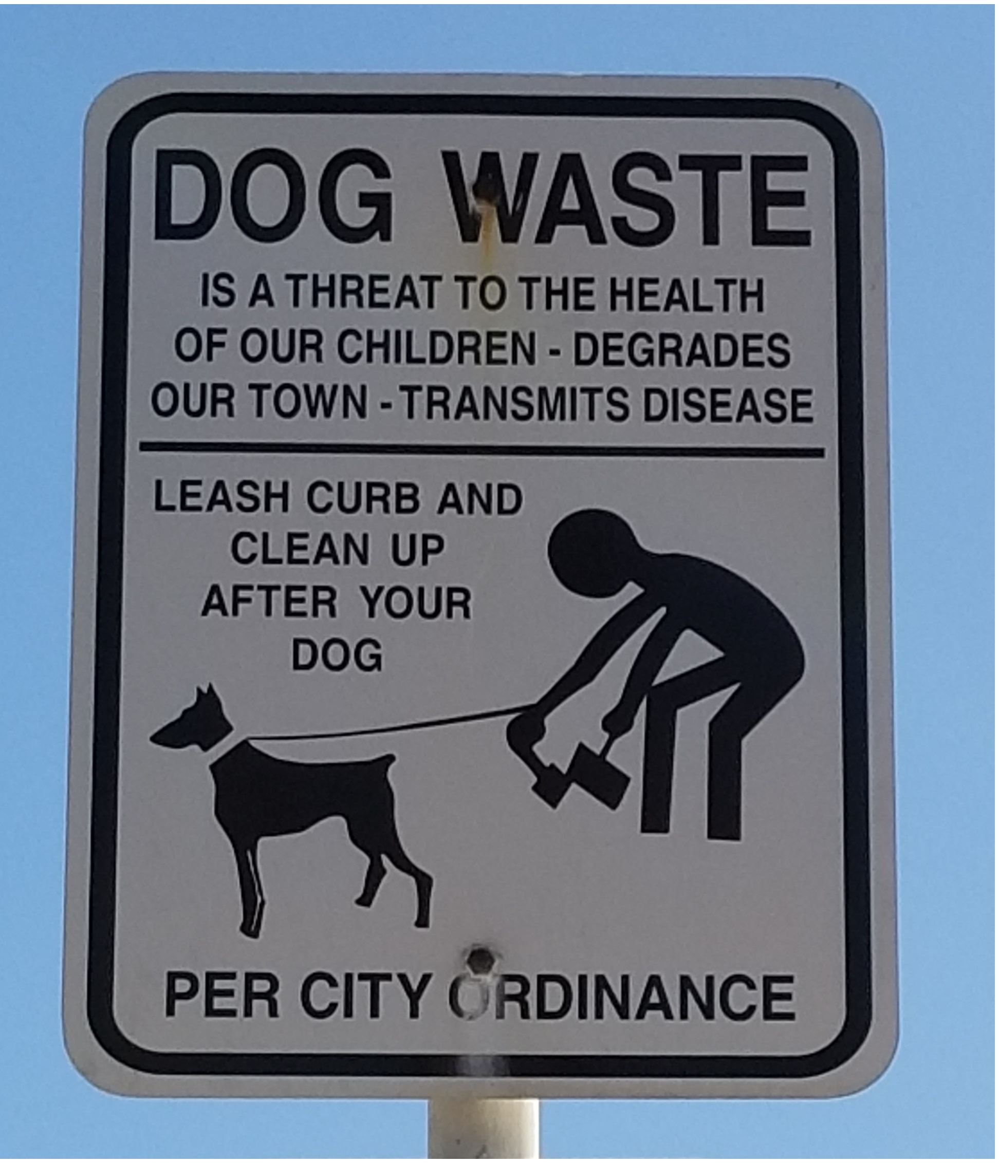 Pick-up Dog Waste Ordinance
