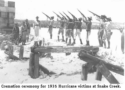 1935 Cremation Ceremony for Hurrican Victims at Snake Creek