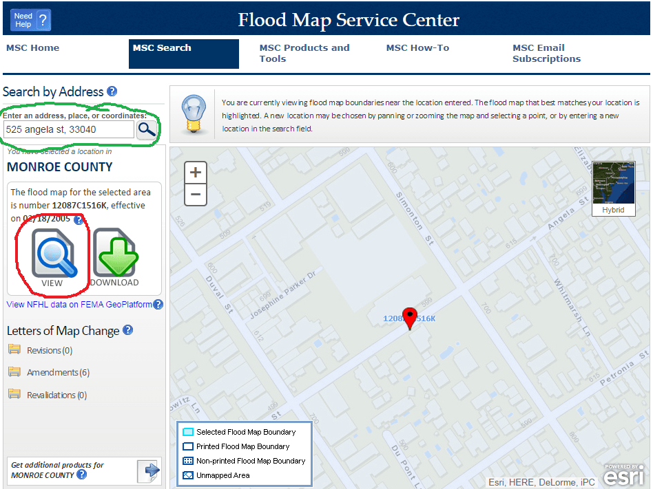 Search by Address Flood Map Service Center