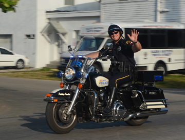 Traffic Unit officer on a motorcycle